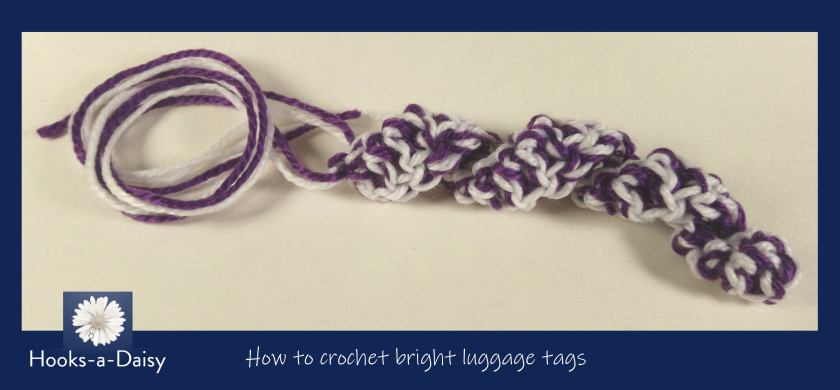 How to crochet bright luggage tags